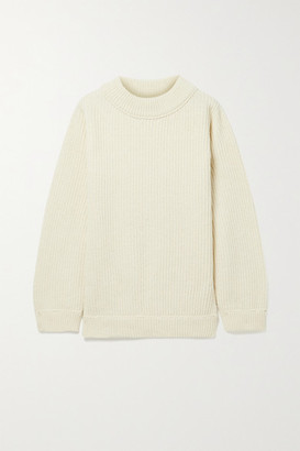 Base Range Tauro Ribbed Recycled Wool And Organic Cotton-blend Sweater - Off-white