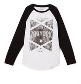 Zoo York White Flamed Raglan Tee - Boys