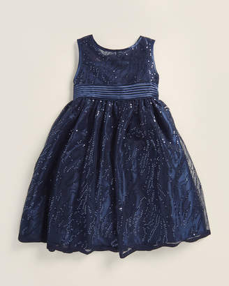 Princess Faith (Girls 4-6x) Sequin Bow A-Line Dress