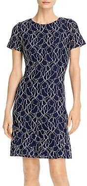 Karl Lagerfeld Paris Short-Sleeve Lace Dress