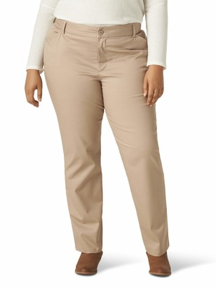 Lee Women's Plus Size Wrinkle Free Relaxed Fit Straight Leg Pant