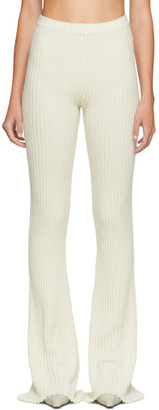 Christina SSENSE Exclusive Off-White Rib Knit Lounge Pants