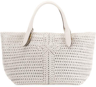 Anya Hindmarch The Neeson Large Woven Leather Tote Bag