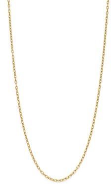 Zoë Chicco 14K Yellow Gold Heavy Metal Oval Link Chain Necklace, 16