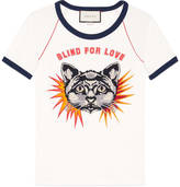 Gucci T-shirt with cat appliqué