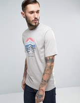 Columbia Mountain Sunset T-shirt In Grey Marl