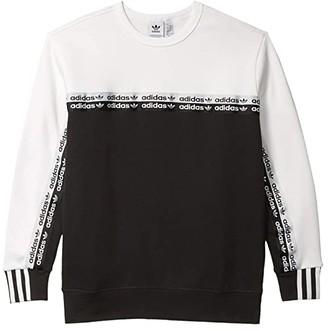 adidas Kids Kids RYV Crew Sweatshirt (Little Kids/Big Kids) (Black/White) Kid's Clothing