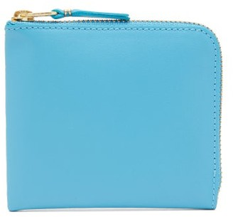 Comme des Garcons Zip-around Leather Wallet - Womens - Blue