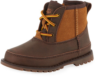 UGG Bradley Suede & Leather Waterproof Boots, Kids