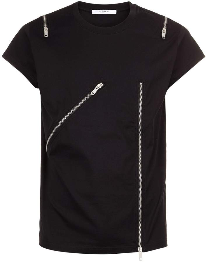 Givenchy Zip Embellished T-Shirt