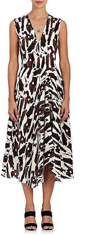 Zero Maria Cornejo Women's Wave Bark-Print Silk-Blend Dress