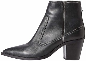 Find. Amazon Brand Stitch Leather High Western Ankle Boots Black) 7 UK