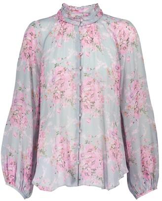 LoveShackFancy Valeria floral blouse