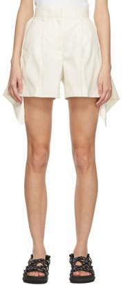Sacai Off-White Wool Draped Shorts