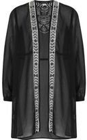 River Island Girls black sequin embellished duster jacket