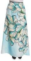 Marina Rinaldi Clacson Long Flower-Print A-line Skirt, Plus Size
