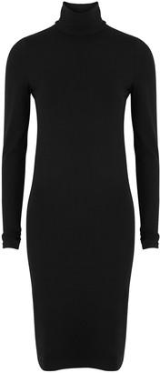 Wolford Aurora Black Stretch-jersey Midi Dress