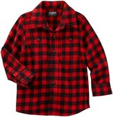 "Osh Kosh OshKosh Little Boys' Toddler ""Drafty Barn"" Flannel Button-Down"