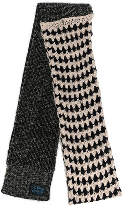 Raf Simons Logo Patch Knitted Scarf