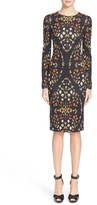 Alexander McQueen Women's 'Obsession' Print Stretch Jersey Dress