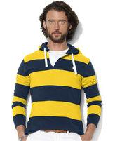 Polo Ralph Lauren Hoodie, Long-Sleeved Striped Mesh Pullover Hoodie