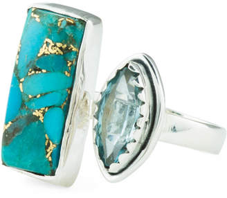 Made In India Sterling Silver Gemstone Open Ring