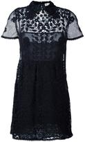RED Valentino embroidered flower dress - women - Silk/Cotton/Polyester - 42