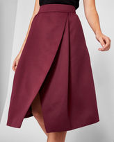 Ted Baker Asymmetric wrap midi skirt