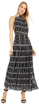 Sabina Musayev Hawaii Dress (Embroidered Black) Women's Clothing