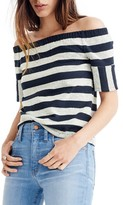 Madewell Women's Stripe Off The Shoulder Texture Top