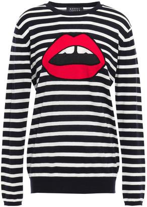 Markus Lupfer Natalie Striped Intarsia Cotton Sweater