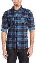 Buffalo David Bitton Men's Sastest Long Sleeve Plaid Fashion Woven Shirt