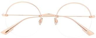 Christian Dior round frame glasses