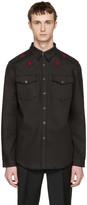 Givenchy Black Denim Star Patch Shirt