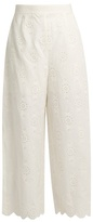 Zimmermann Broderie-anglaise cropped trousers