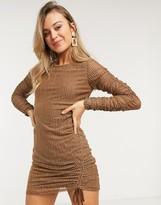 Moon River mesh dress in stripe
