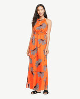 Ann Taylor Floral Halter Maxi Dress