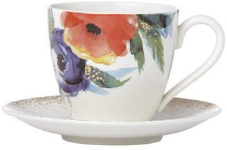 Lenox Passion Bloom Tea Cup & Saucer Set