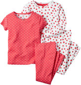 Carter's Strawberry 4-pc. Pajama Set - Baby Girls newborn-24m