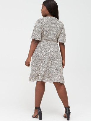 V By Very Curve Printed Jersey Tea Dress