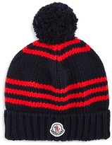 Moncler Boys' Wool Striped Hat - Sizes XS-XL