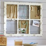 PBteen Rustic Framed Wall Jewelry Display