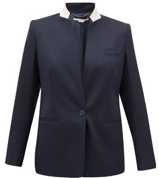 Stella McCartney Notched-lapel Single-breasted Wool Jacket - Navy