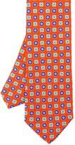 J.Mclaughlin Italian Silk Twill Tie In Mini Mix Floral
