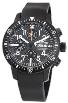 Fortis Men's 638.28.71K B-42 Official Cosmonauts Automatic Chronograph Black Dial Watch
