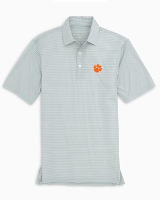 Southern Tide Clemson Tigers brrr Striped Polo Shirt