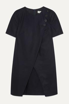 Cefinn Tia Asymmetric Wool-blend Mini Dress - Navy