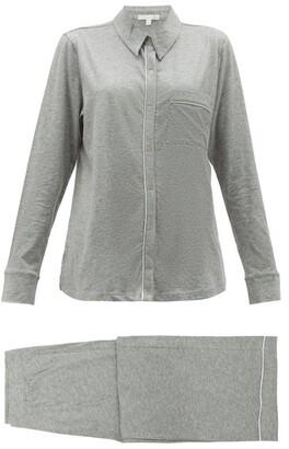 Skin - Penelope Pima-cotton Pyjamas - Womens - Light Grey