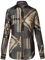 Ralph Lauren Antonella Silk Georgette Shirt