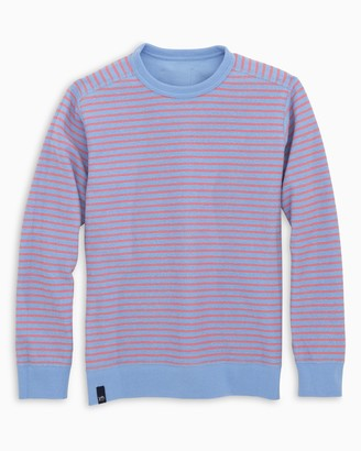 Southern Tide Boys Striped Reversible Upper Deck Pullover